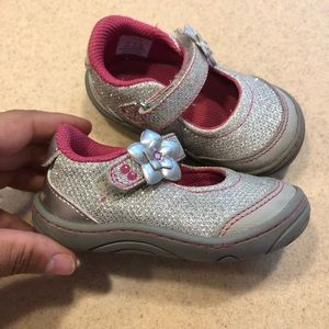 Stride Rite Girls Size 4 Mary Jane Sneakers Shoes